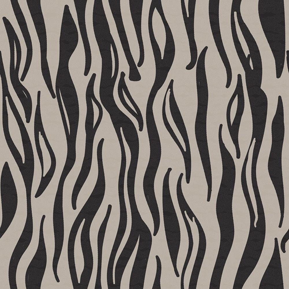 Detalle del Papel pintado autoadhesivo con estampado Animal Skin Zebra.