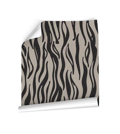 Detalle del Papel pintado autoadhesivo con estampado blue jeans Animal Skin Zebra