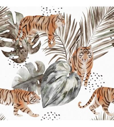 Detalle del Papel pintado autoadhesivo con estampado blue jeans Animal Skin Safari