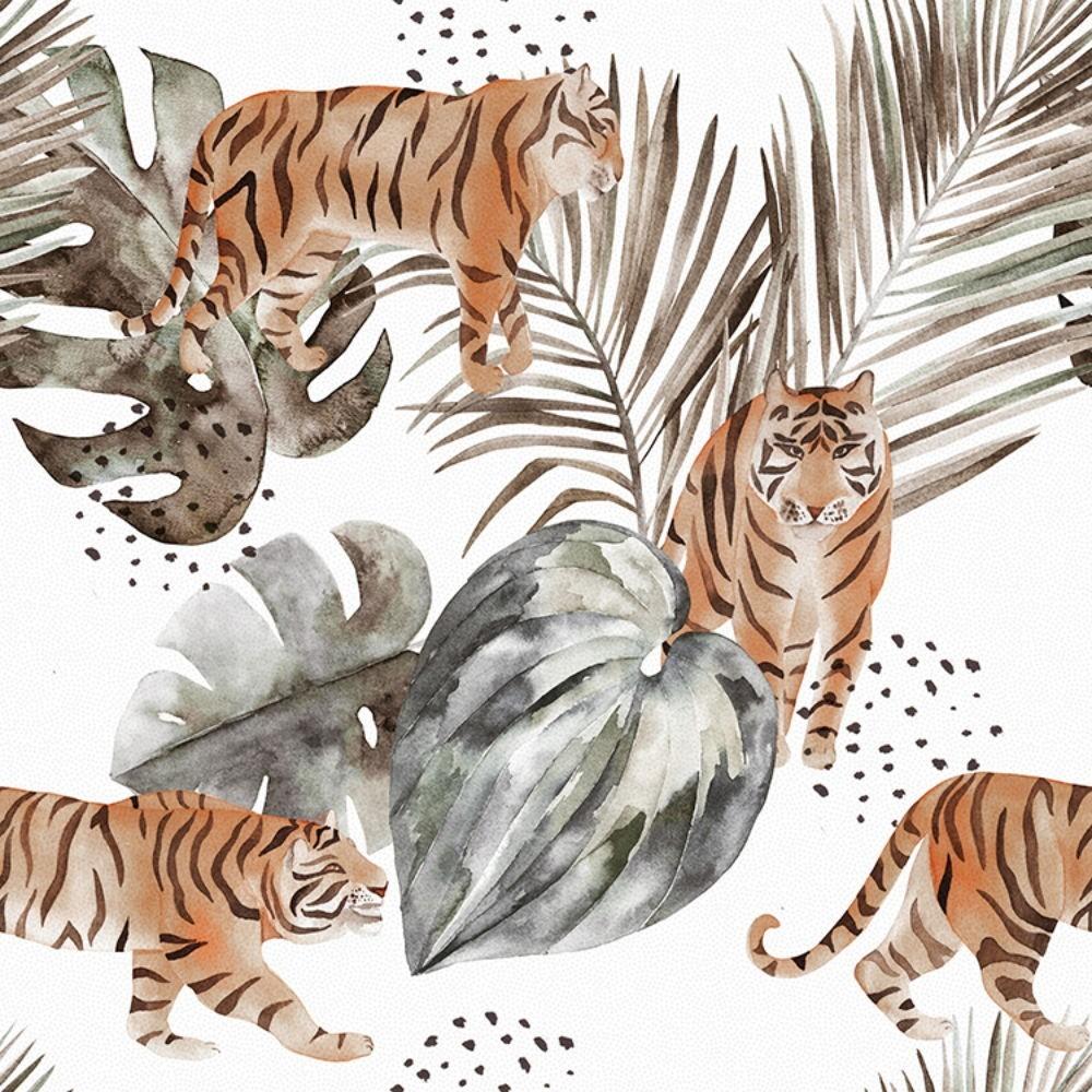Detalle del Papel pintado autoadhesivo con estampado Animal Skin Safari.