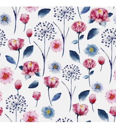 Detalle del Papel pintado autoadhesivo con estampado blue jeans Daydream Flora