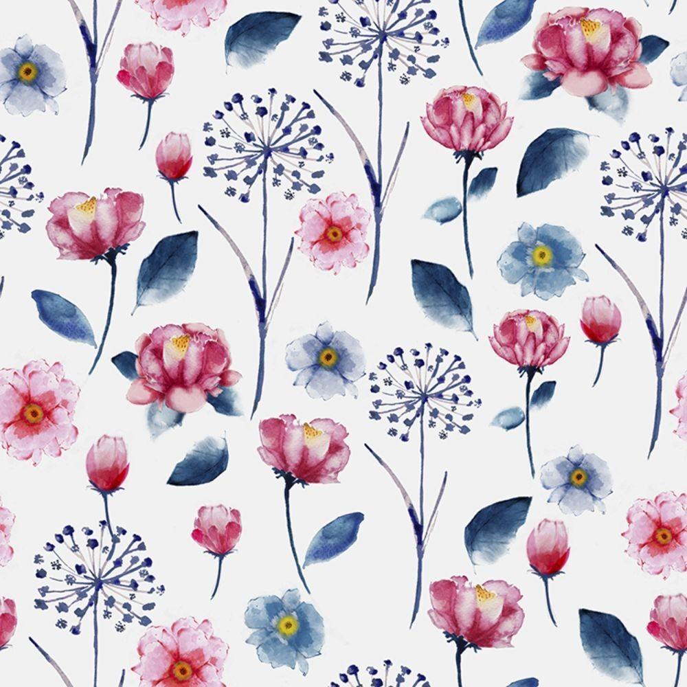 Detalle del Papel pintado autoadhesivo con estampado Daydream Flora.
