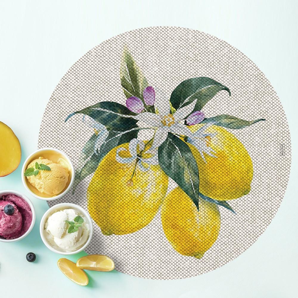 Mantel individual con estampado Lemon.