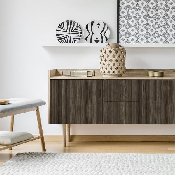 Vinilo para muebles con estampado  Madera Rosewood Dark