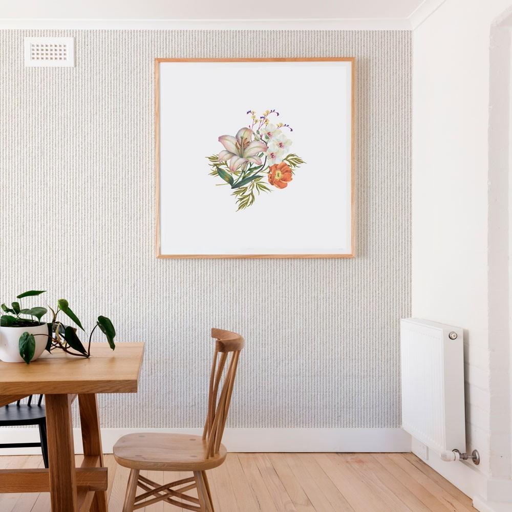 Ambiente del Papel pintado autoadhesivo con estampado Tweed Crema