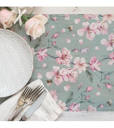 Camino de mesa con estampado  Floral