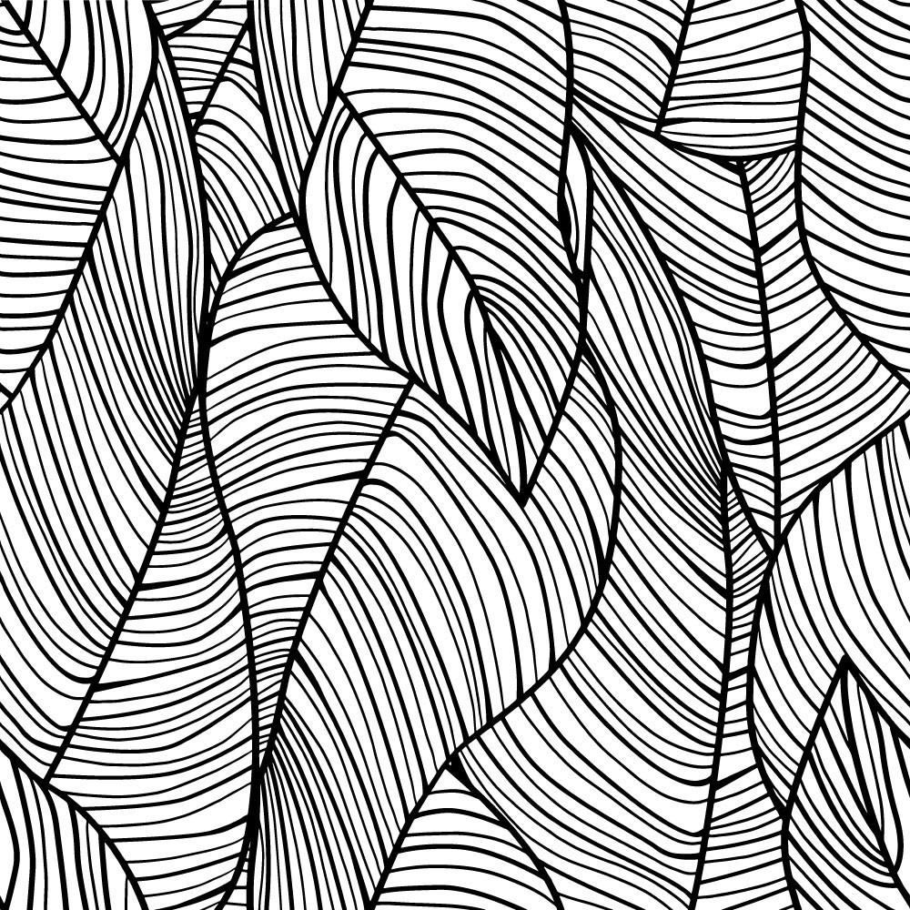 Detalle del Papel pintado autoadhesivo con estampado Palms