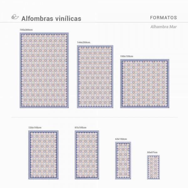 Alfombra vinílica para suelo Alhambra Mar