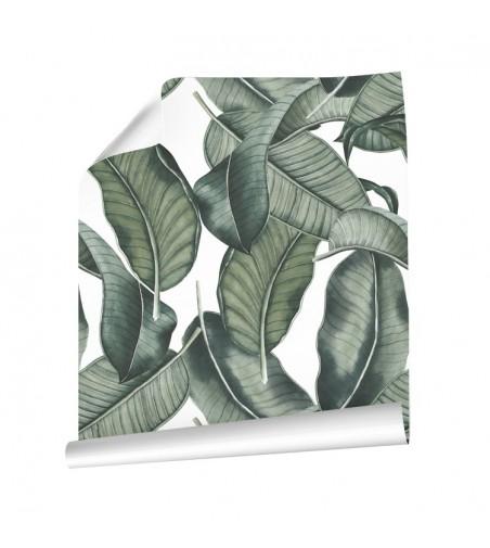 Detalle del Papel pintado autoadhesivo con estampado Sumatra.