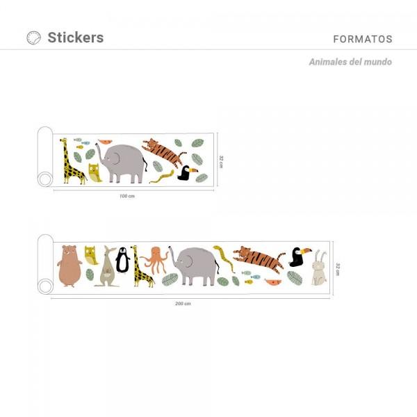 Sticker Animales del mundo