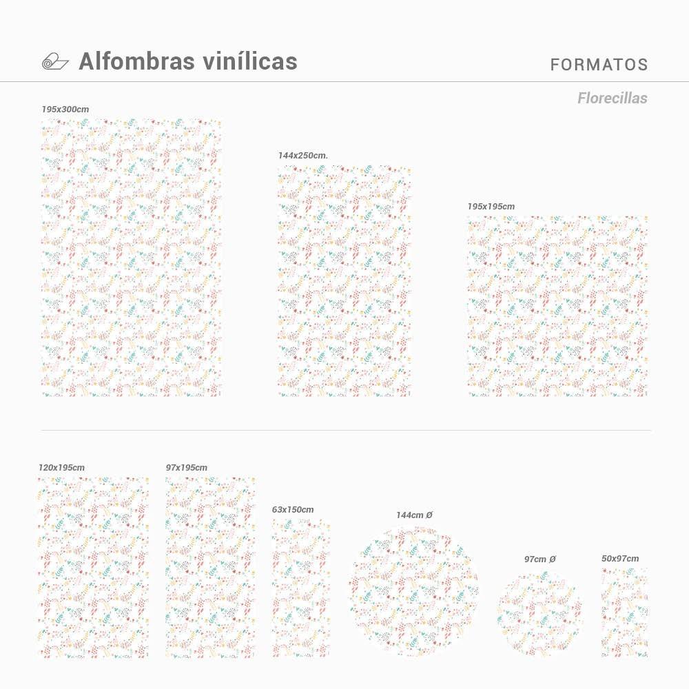 Alfombra Vinílica Florecillas