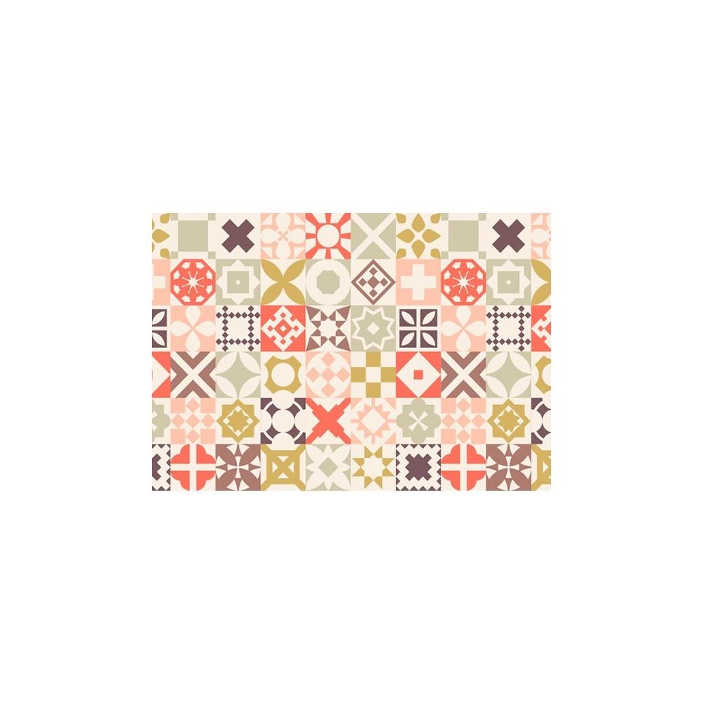 mantel individual estampado hidraulico colores