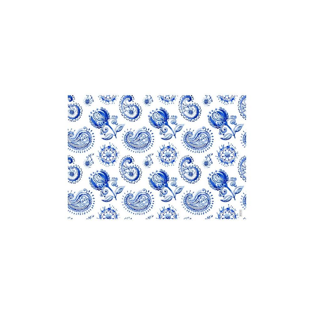 Mantel individual con estampado santorini blue