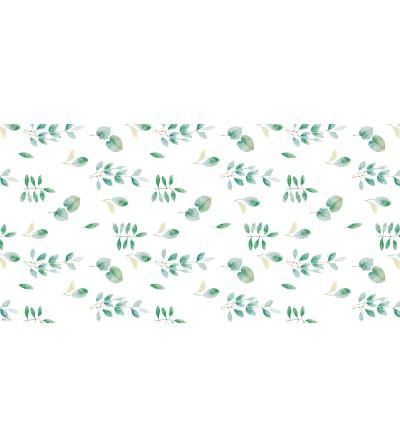 Alfombra vinílica con estampado eucalipto