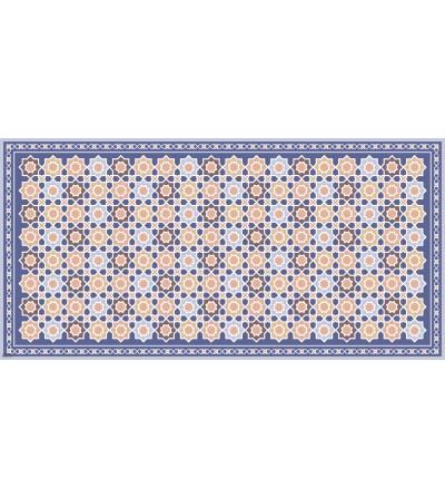 Alfombra vinílica con estampado alhambra mar
