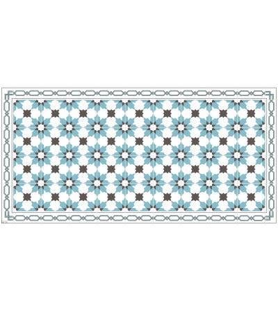 Alfombra vinílica con estampado Hidraulic Star Blue
