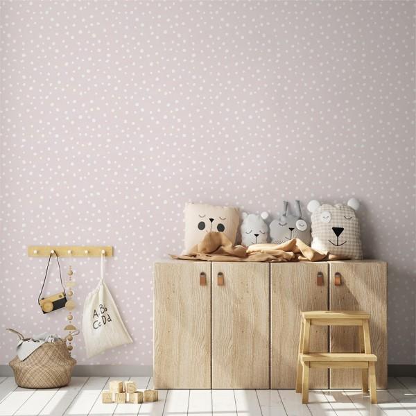 Ambiente del Papel pintado autoadhesivo con estampado Irregular Dots Pink