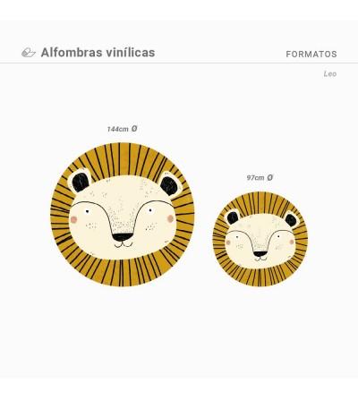 Alfombra vinílica con estampado leo