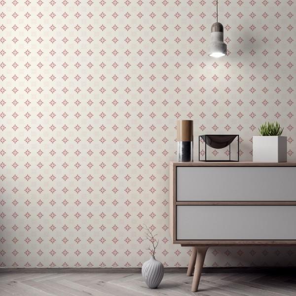 Ambiente del Papel pintado autoadhesivo con estampado Arabesco Rosa