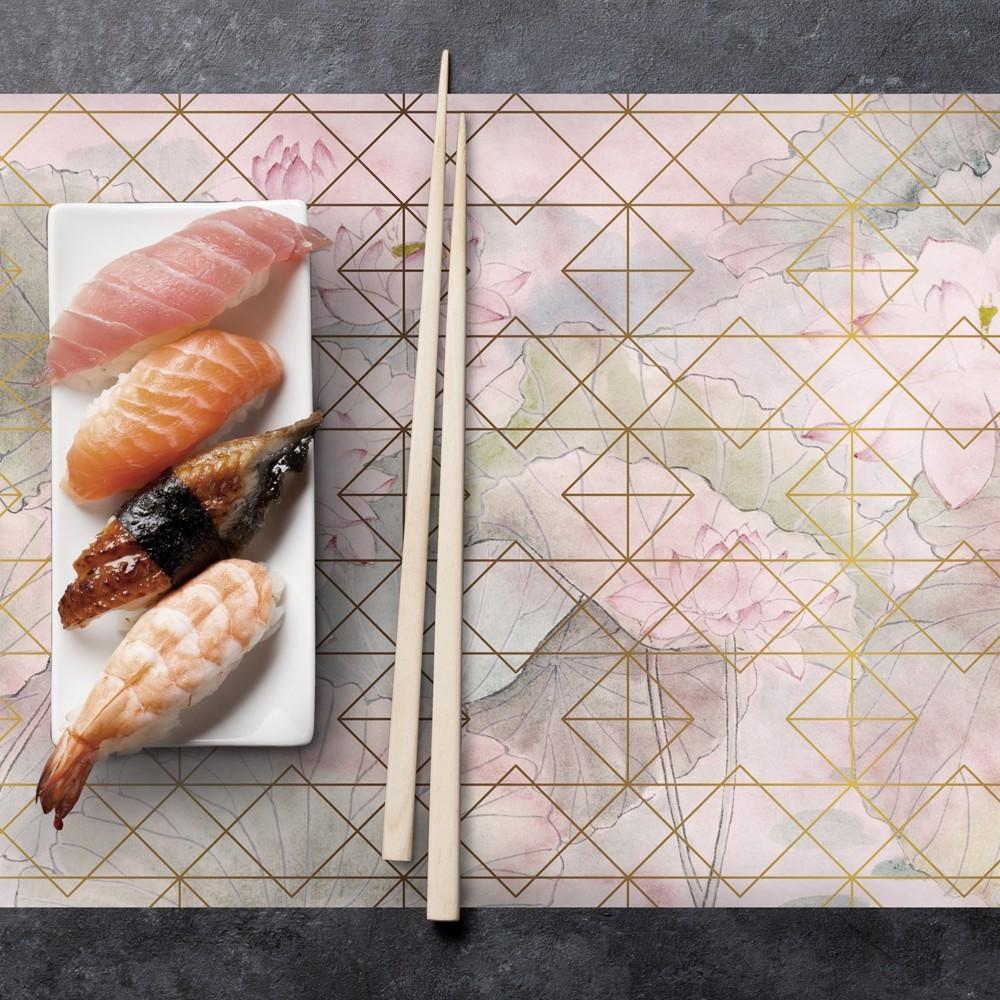 Camino de mesa con estampado  Geometric pink