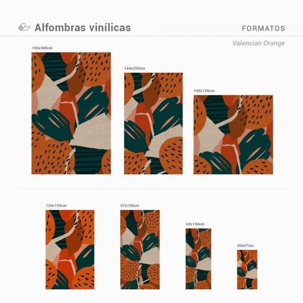 Alfombra vinílica para suelo Valencian Orange