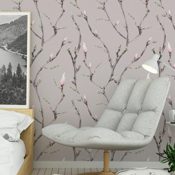 Ambiente del Papel pintado autoadhesivo con estampado Bloom Rosa