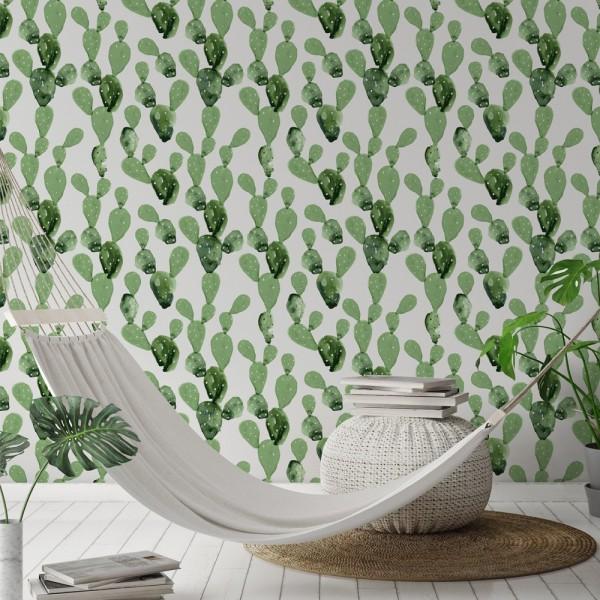 Ambiente del Papel pintado autoadhesivo con estampado Cactus