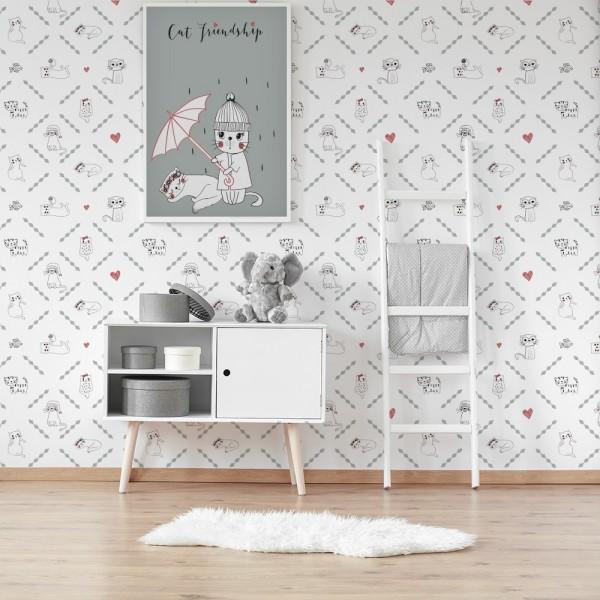 Ambiente del Papel pintado autoadhesivo con estampado Cat Lover