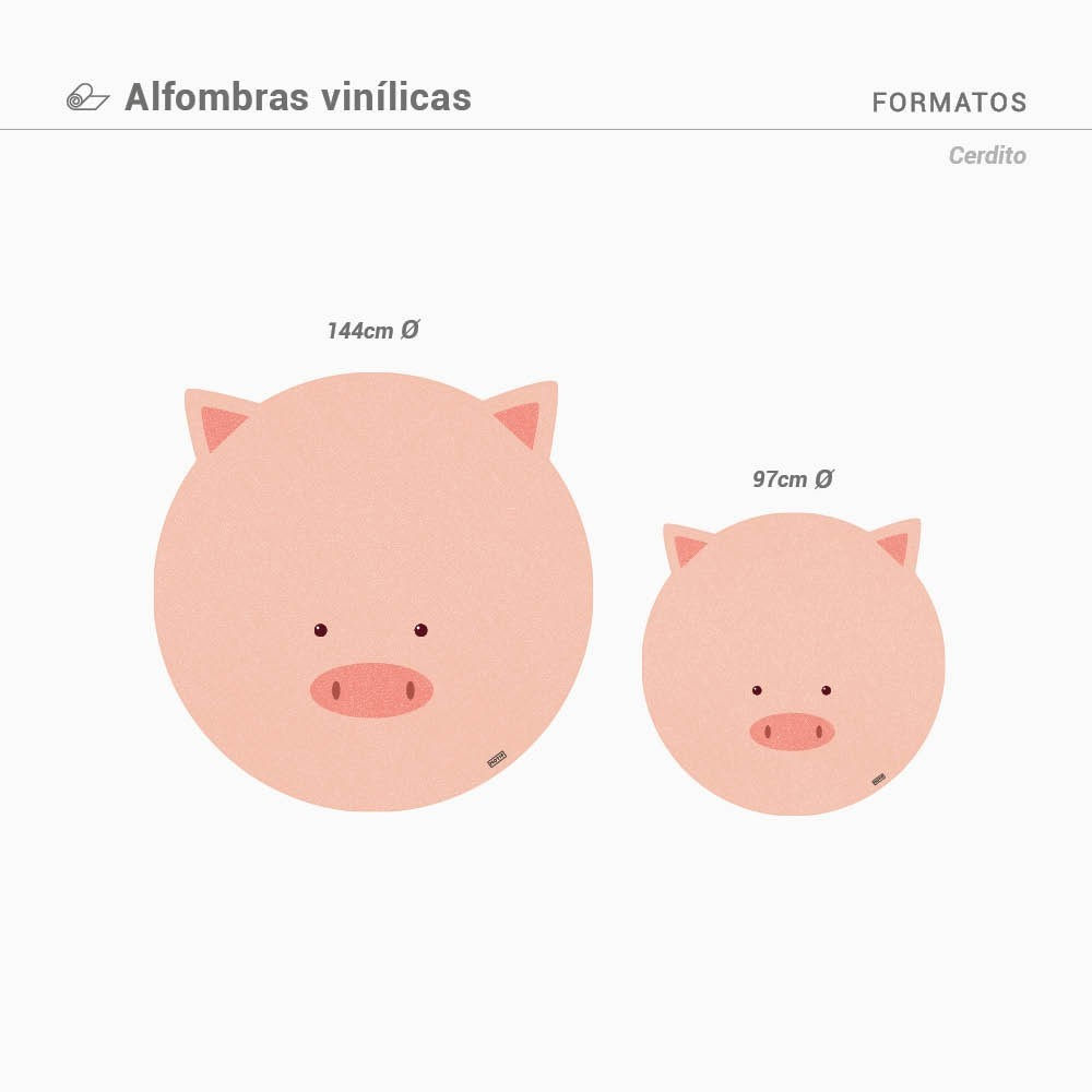 Alfombra Vinílica LITTLE PIG PROMO EXPRESS