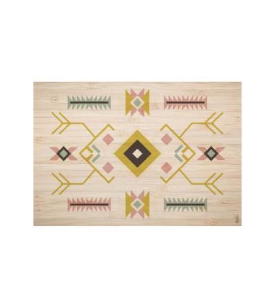 Mantel individual con estampado Indios.