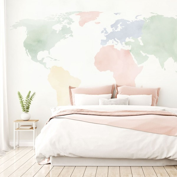Mural Autoadhesivo Cute World