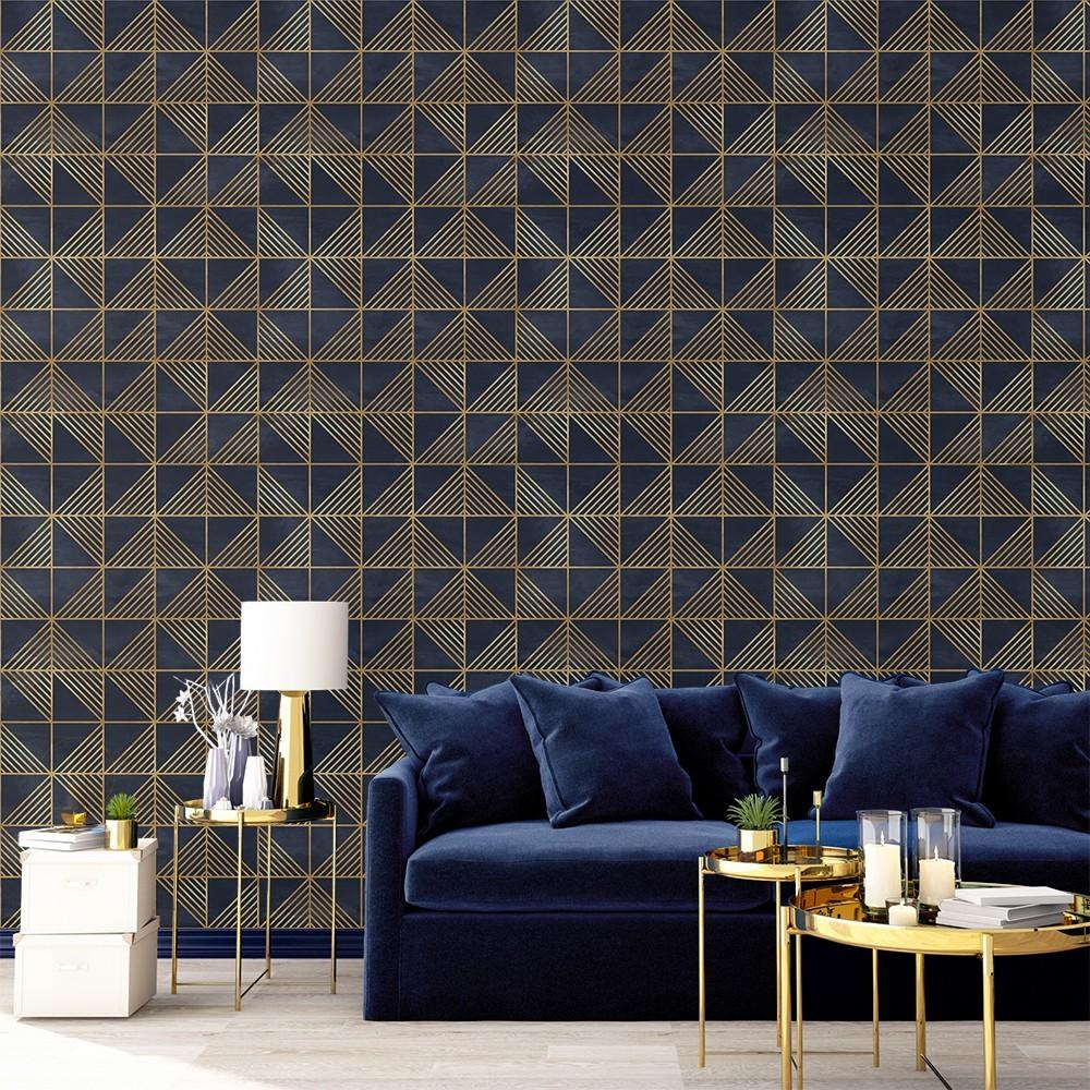 Ambiente del Papel pintado autoadhesivo con estampado Gold Triangles