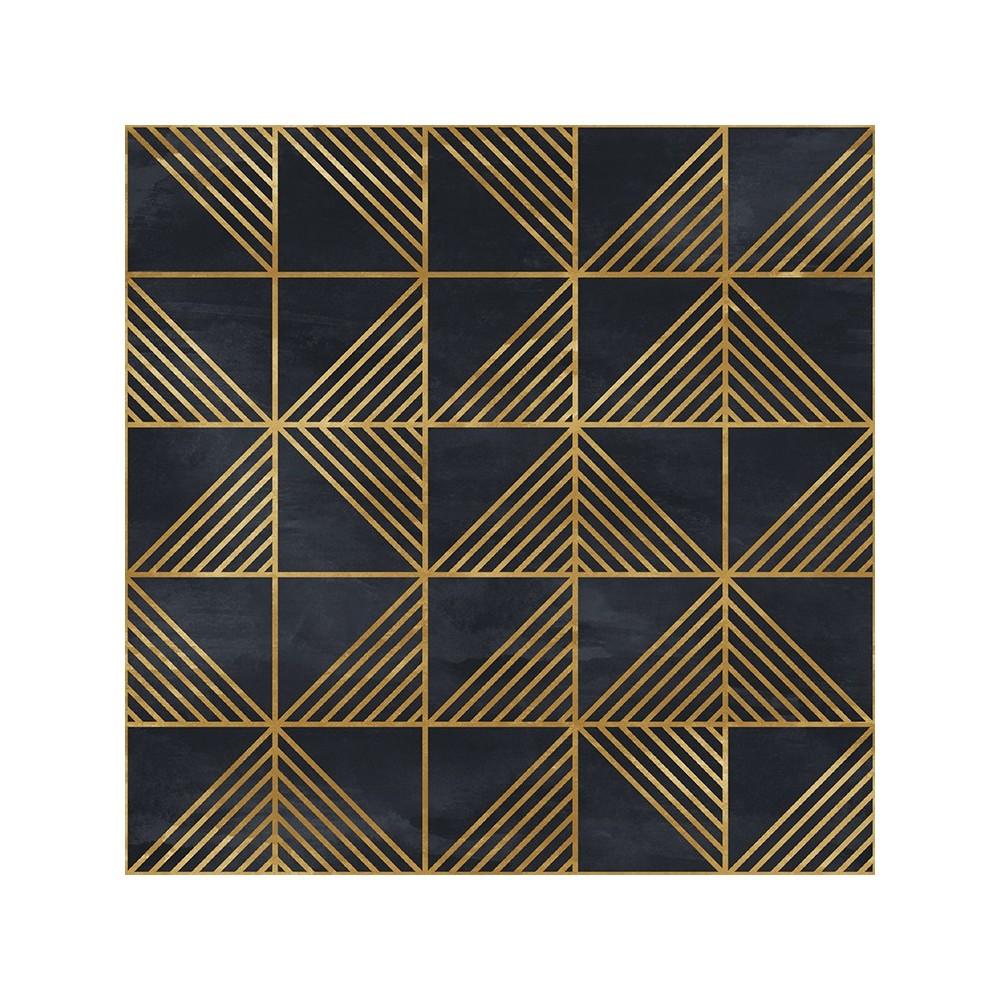 Detalle del Papel pintado autoadhesivo con estampado Gold Triangles