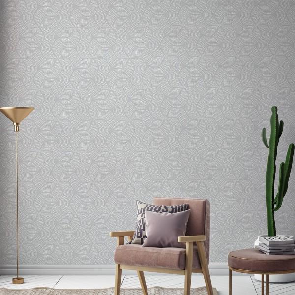 Papel pintado para pared Autoadhesivo  Grey Waves