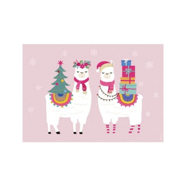 Packs de 2 manteles Alpacas Navidad (min. 3 packs)