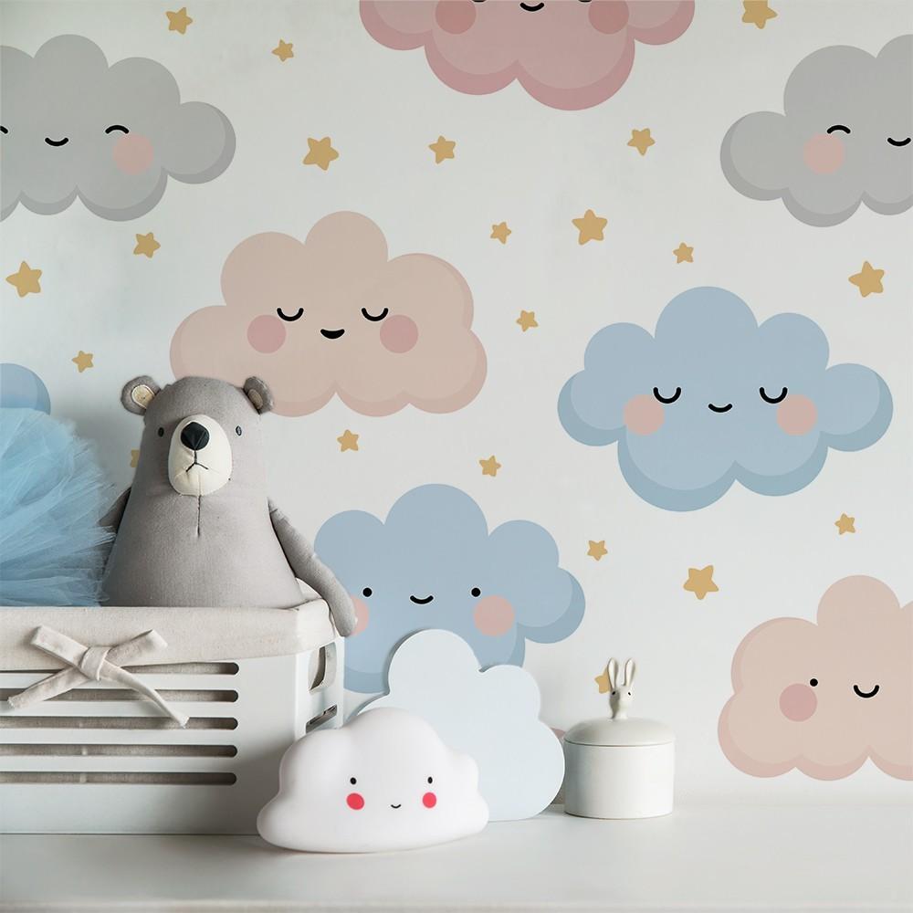 Ambiente del Papel pintado autoadhesivo con estampado Nuvols