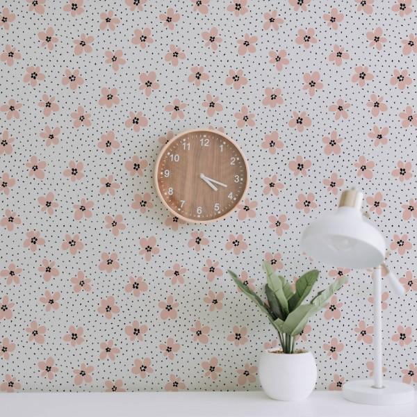 Ambiente del Papel pintado autoadhesivo con estampado Pink Daisy