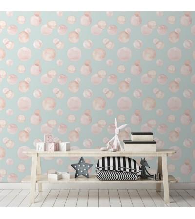 Ambiente del Papel pintado autoadhesivo con estampado Pompas Pink