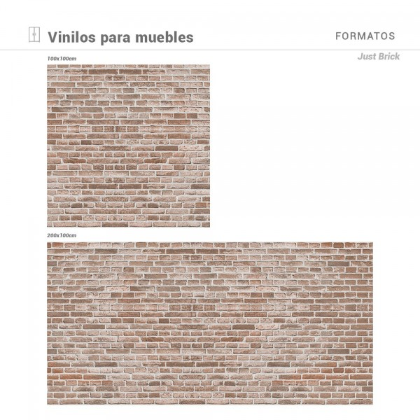 Vinilo para Mueble Just Brick