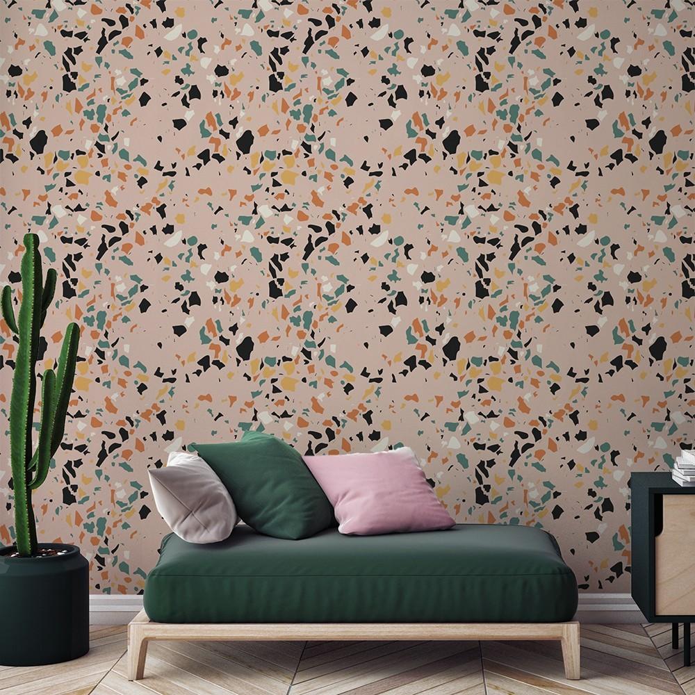 Ambiente del Papel pintado autoadhesivo con estampado Terrazo Classic