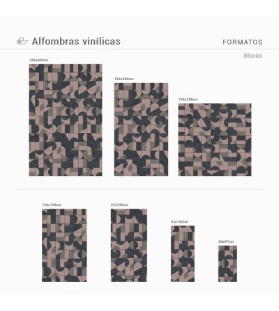 Alfombra Vinílica Blocks
