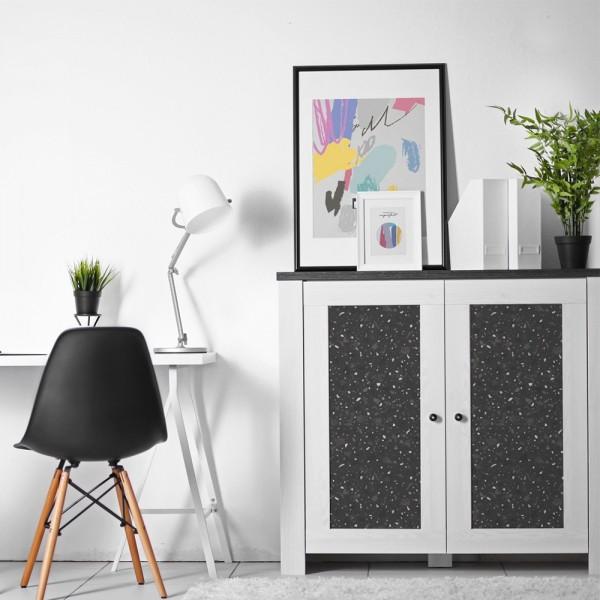 Vinilo para muebles con estampado Terrazo Black