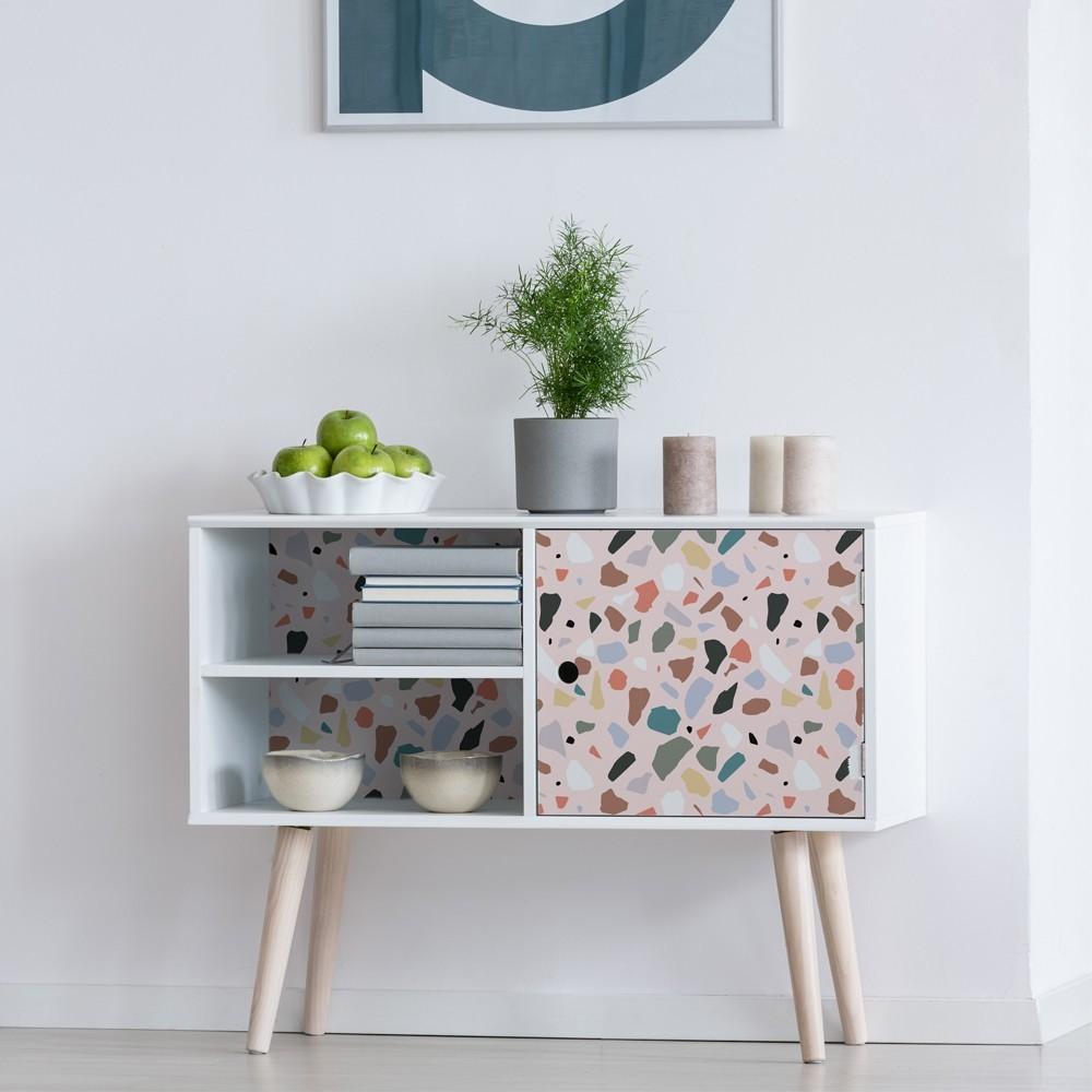 Vinilo para muebles con estampado Terrazo Blush