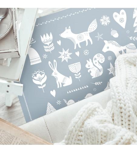 Alfombra vinilica Snow Animals