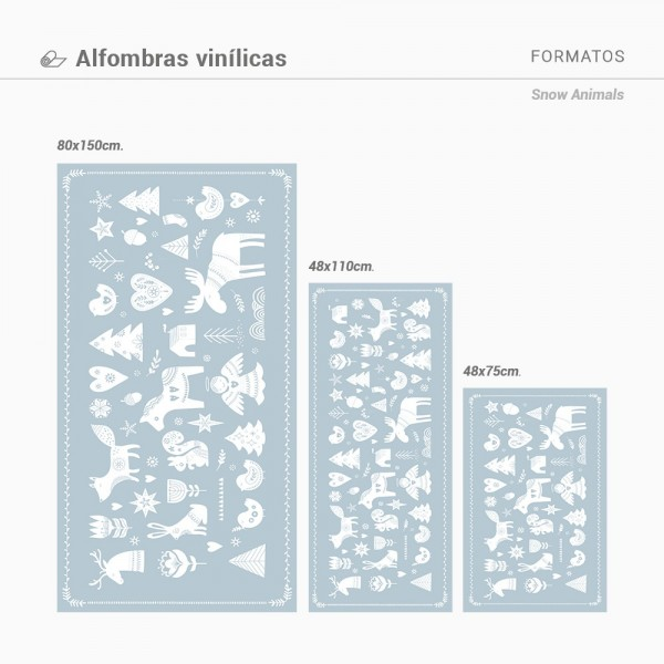 Alfombra vinilica Snow Animals