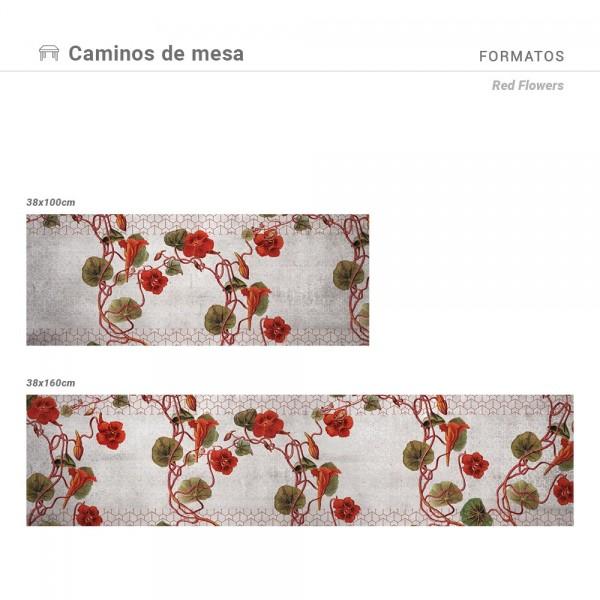 Camino de mesa Red Flowers
