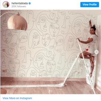 Imagen de Elena Tablada también se enamora de los papeles y murales MOTIF