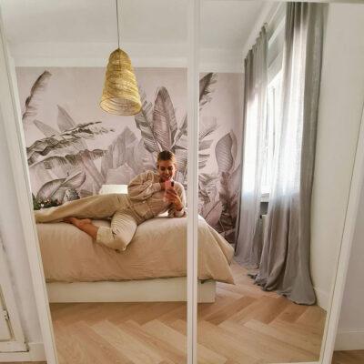 Imagen de Habitación de @honeydressing con Mural Amazonia Soft