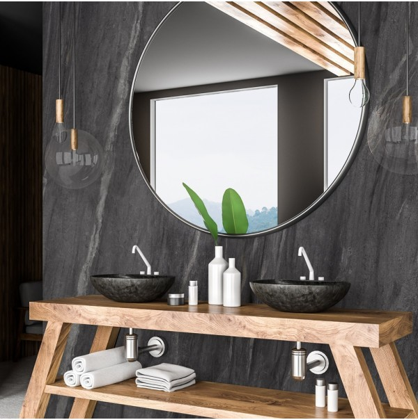 Los dos materiales de moda para tu cuarto de baño